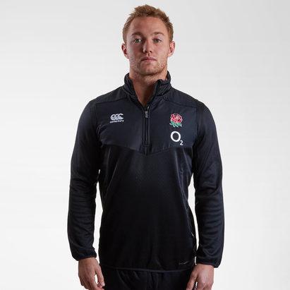 Canterbury Angleterre 2018/19 - Haut Entraînment de Rugby 1/4 Zip Joueurs