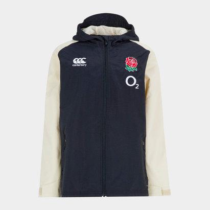 Canterbury Angleterre 2018/19 - Manteau de Rugby Tout Temps Zippé Jeunes