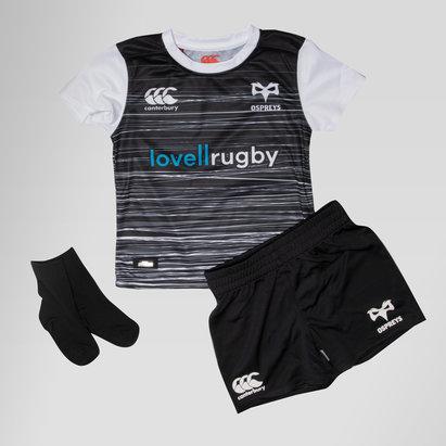 Canterbury Ospreys 2018/19 - Kit de Rugby Domicile Jeunes Enfants