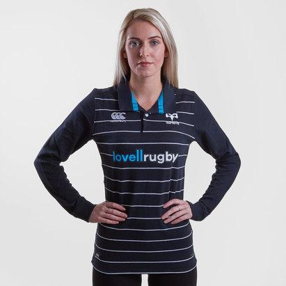 Canterbury Ospreys 2018/19 - Maillot de Rugby Classique Domicile M/L Femmes
