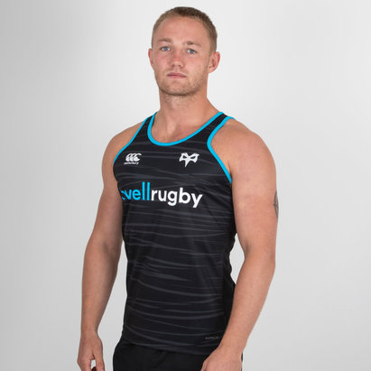 Canterbury Ospreys 2018/19 - Débardeur de Rugby Poly Entraînement Joueurs
