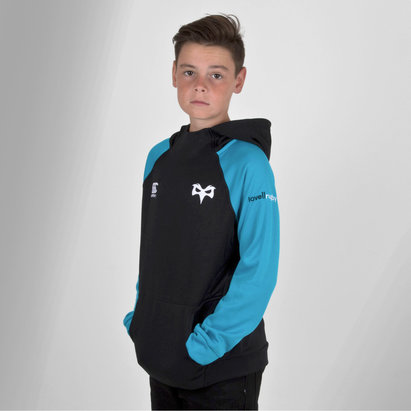 Canterbury Ospreys 2018/19 - Pull de Rugby à Capuche Hybride Enfants