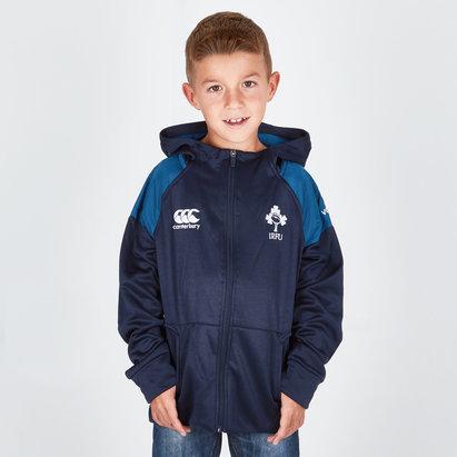 Canterbury Irlande IRFU 2018/19 - Pull à Capuche de Rugby Hybride Zippé Enfants