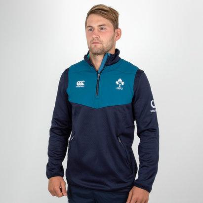 Canterbury Irlande IRFU 2018/19 - 1/4 Zip Haut d'Entrainement Rugby Joueurs