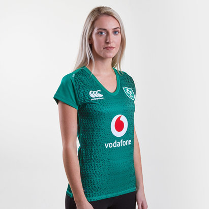 Canterbury Irlande IRFU 2018/19 - Maillot de Rugby Pro Domicile Femmes