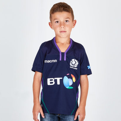 Macron Écosse 2018/19 - Maillot de Rugby Réplique Domicile Enfants