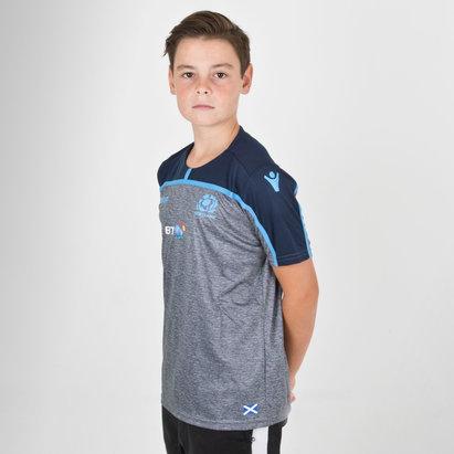 Macron Écosse 2018/19 - Tshirt Entraînement Gym de Rugby Enfants