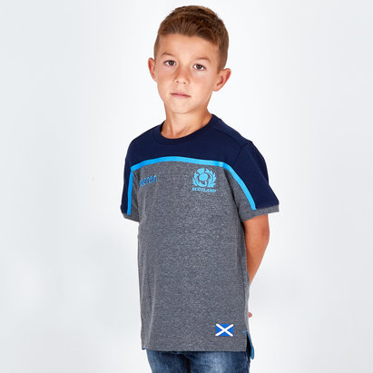 Macron Écosse 2018/19 - Tshirt de Rugby Voyage Enfants