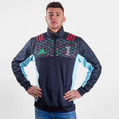 adidas Harlequins 2018/19 - Veste de Rugby Polaire Joueurs