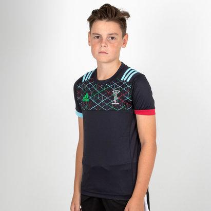adidas Harlequins 2018/19 - Tshirt de Rugby Performance Enfants