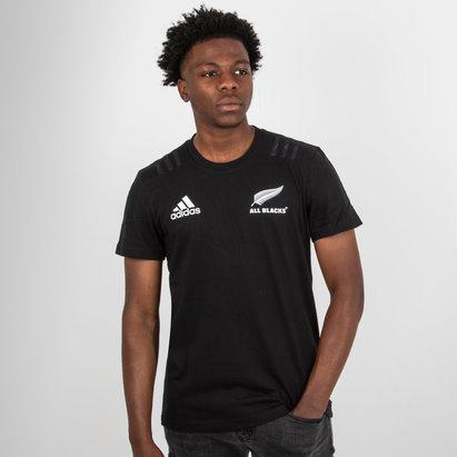 adidas Nlle Zélande All Blacks 2018 - Tshirt de Rugby Coton