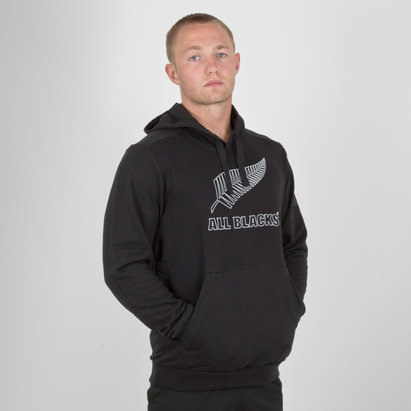 adidas Nlle Zélande All Blacks 2018 - Pull à Capuche de Rugby Supporters