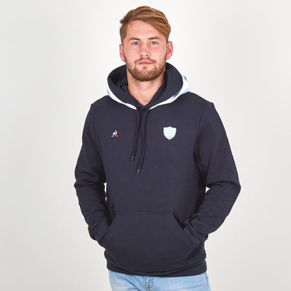 Le Coq Sportif Racing 92 2018/19 - Pull à Capuche de Rugby Supporters