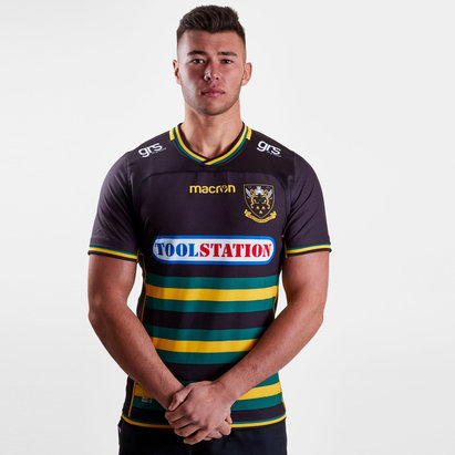 Macron Northampton Saints 2018/19 - Maillot de Rugby Test Authentique Domicile