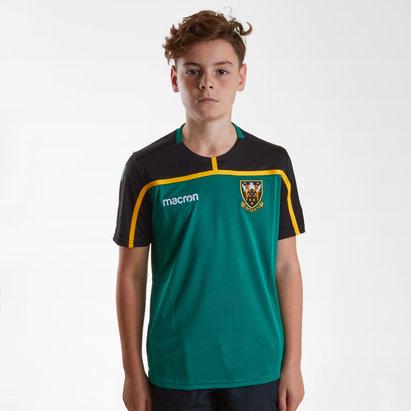 Macron Northampton Saints 2018/19 - Tshirt de Rugby Entraînement Enfants