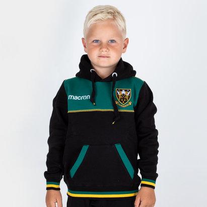 Macron Northampton Saints 2018/19 - Pull à Capuche Coton de Rugby Voyage Enfants
