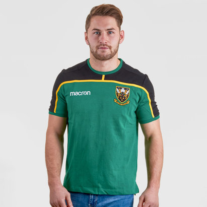 Macron Northampton Saints 2018/19 - Tshirt de Rugby Voyage Joueurs