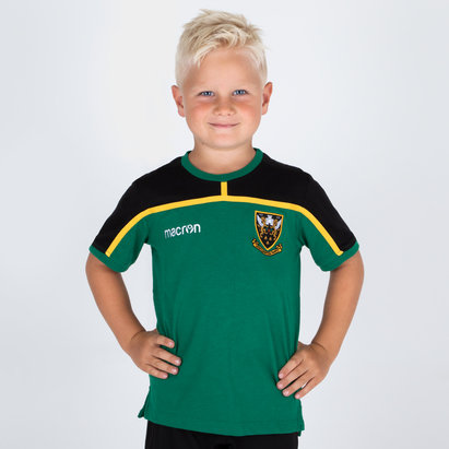 Macron Northampton Saints 2018/19 - Tshirt de Rugby Voyage Enfants