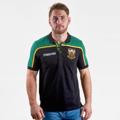 Macron Northampton Saints 2018/19 - Polo de Rugby Voyage Joueurs