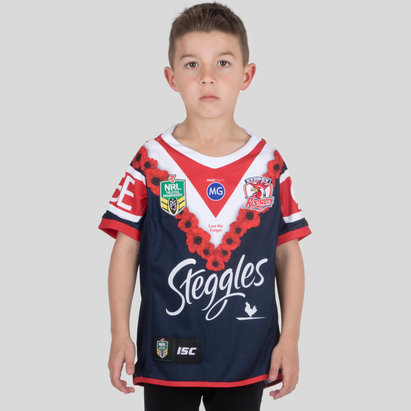 ISC Sydney Roosters NRL 2018 - Maillot de Rugby Anzac Enfants