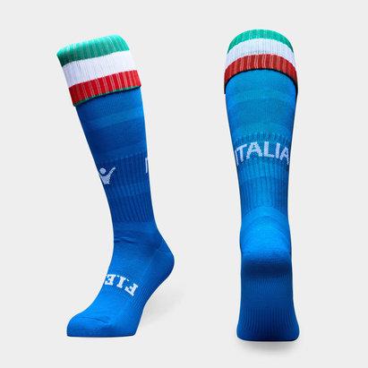 Macron Italie 2018/19 - Chaussettes de Rugby Match Domicile