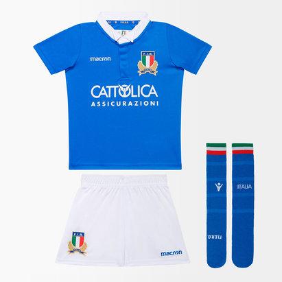 Macron Italie 2018/19 - Kit de Rugby Réplique Home Bébés