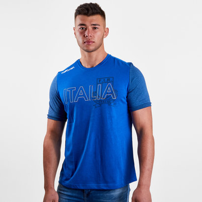 Macron Italie 2018/19 - Tshirt de RUgby Coton Supporter