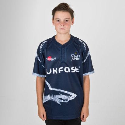 Samurai Sale Sharks 2018/19 - Maillot de Rugby Réplique Domicile Enfants