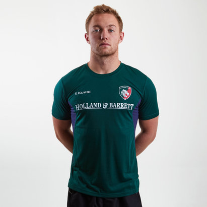 Kukri Leicester Tigers 2018/19 - T-shirt de Rugby Match Day Joueurs