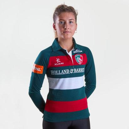 Kukri Leicester Tigers 2018/19 - Maillot de Rugby Classique Domicile Femmes M/L