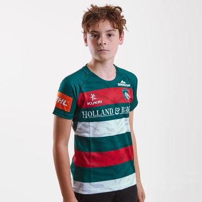 Kukri Leicester Tigers 2018/19 - Maillot de Rugby Réplique Domicile Enfants