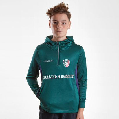 Kukri Leicester Tigers 2018/19 - Pull à Capuche de Rugby Match Day Enfants