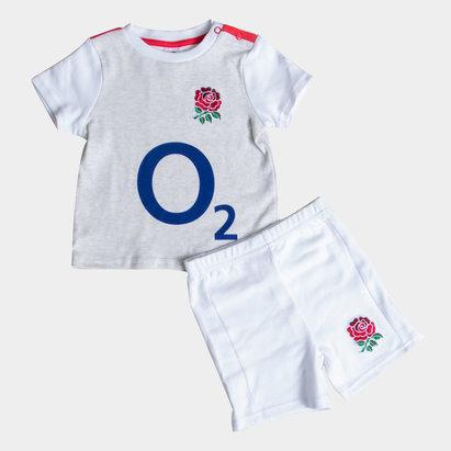 England Rugby Angleterre RFU 2018/19 - Set Maillot & Short de Rugby Enfants