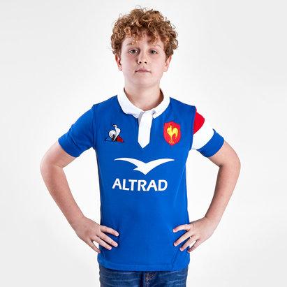 Le Coq Sportif France 2018/19 - Maillot de Rugby Domicile Enfants