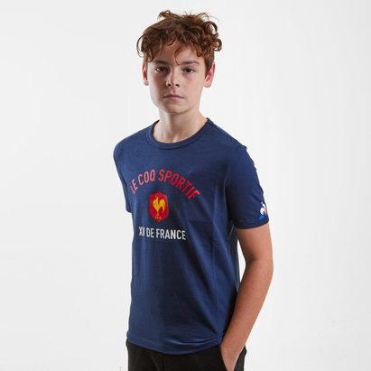 Le Coq Sportif France 2018/19 - Tshirt de Rugby Enfants