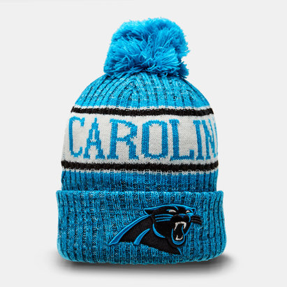 New Era NFL Carolina Panthers - Bonnet Tricoté à Pompon