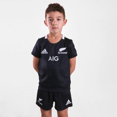 adidas Nlle Zélande All Blacks 2018/19 - Kit de Rugby Réplique Domicile Jeunes Enfants