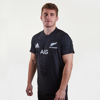 adidas Nlle Zélande All Blacks 2018/19 - Tshirt de Rugby Performance Joueurs