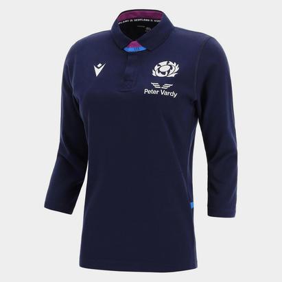 Macron Scotland Home Three Quarter Sleeve Classic Rugby Shirt Ladies 2021 2022