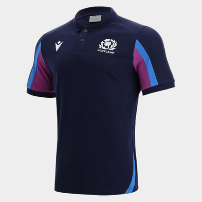 Macron Scotland Rugby Polo Shirt Mens