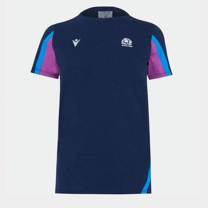 Macron Scotland Rugby Cotton T Shirt Ladies