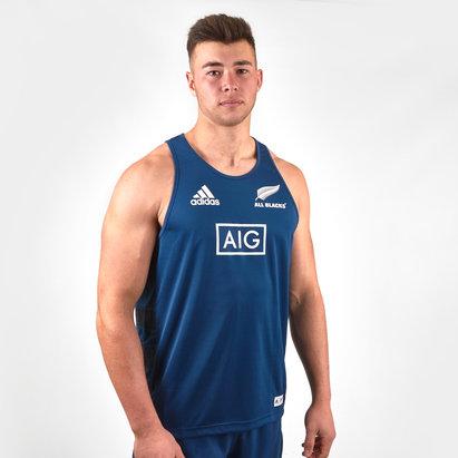 adidas Nll Zélande All Blacks 2018/19 - Débardeur de Rugby Entraînement Parley