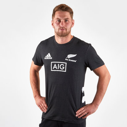 adidas Nlle Zélande All Blacks 2018/19 - Tshirt de Rugby Performance