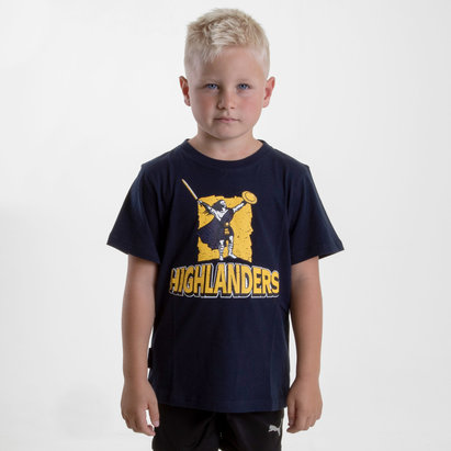 Brandco Highlanders 2018 - T-shirt de Super Rugby Graphic Enfants