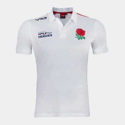 VX-3 Help 4 Heroes England Polo Shirt Mens