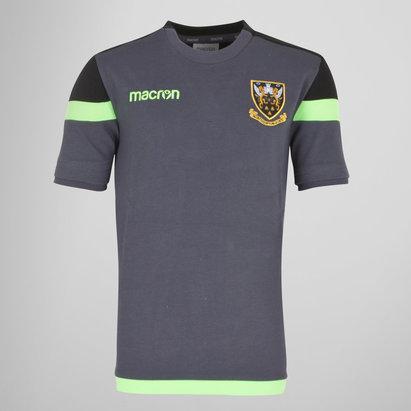 Macron Northampton Saints 2017/18 - Tshirt de Rugby Voyage Poly enfants