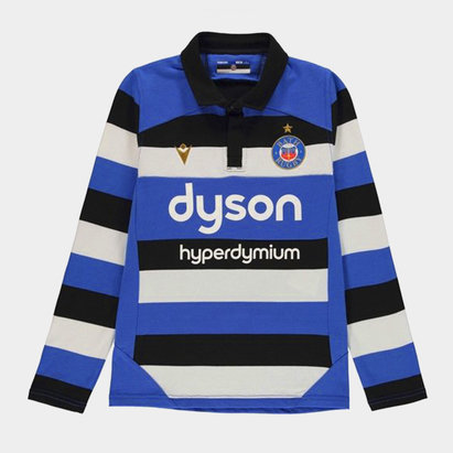 Macron Bath Long Sleeve Cotton Jersey Juniors