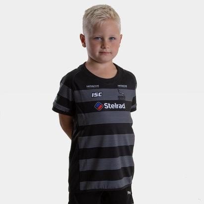 ISC Newcastle Falcons 2018/19 - Maillot de Rugby Réplique Domicile Enfants