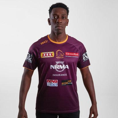 ISC Brisbane Broncos NRL 2019 - Tshirt de Rugby Entraînement Joueurs