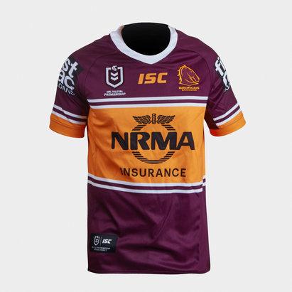 ISC Brisbane Broncos NRL 2019 - Maillot de Rugby Domicile Adolescents